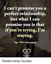 Relationship Meme Quotes - i can t promise you a perfect relationship but what i can promise