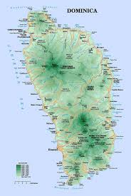 Physical Map Of Italy by Detailed Road And Physical Map Of Dominica Island Dominica Island
