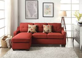 Reversible Sectional Sofa Red Linen Reversible Sectional Sofa Set