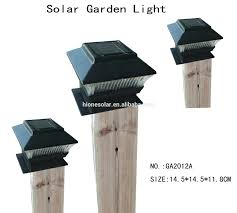 Solar Post Lights Outdoor by Solar Lights Lamp Post Solar Powered Fence Post Cap Low Voltage