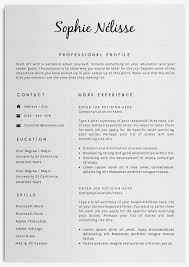 Best Internship Resume by Resume Layouts Resume Template 3 Page Cv Template Best 25