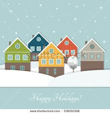 real estate new years cards colorful city houses sale rent real stock vector 427000117