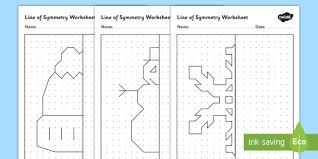 winter themed symmetry activity sheets winter symmetry
