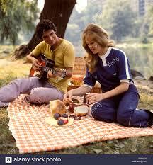 1970s man woman backyard picnic stock photos u0026 1970s man woman