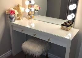 Diy Vanity Table Vanity Set With Lights And Mirror Contemporary Makeup Table