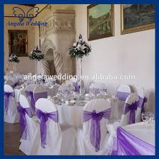 Purple Chair Sashes Sh016a Wholesale Cheap Beautiful Wedding Organza Bow Coral Chair