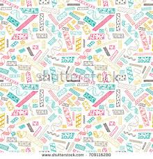 Decorative Scotch Tape Strips Decorative Masking Tape Seamless Pattern Stock Vector