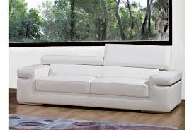 canape cuir blanc deco in canape 3 places en cuir blanc can 3p