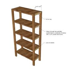 ana white henry bookshelf diy projects then attach the shelves to the front and back face frames as shown in diagram note the 1 1 2