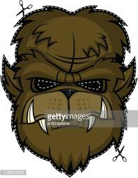 Scary Mask Scary Mask Werewolf Halloween Head Monster Face Vector Art Getty