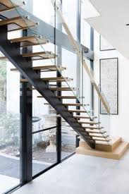 Glass Banisters For Stairs Stair Modern Design Architecture Steel Stringers