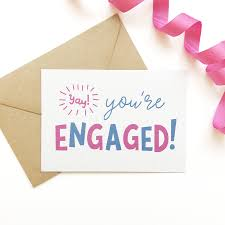 yay you u0027re engaged congratulations card by project pretty