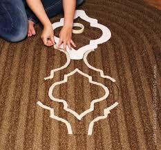 Painted Rug Stencils How To Stencil U0026 Paint Carpet Hometalk