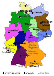 map of germany with states and capitals germany and