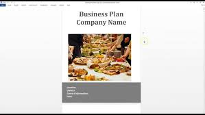 simple business plan template easy free for a catering 5 cmerge