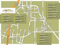 santa map santa ynez wine country santa yenz wine country printable map