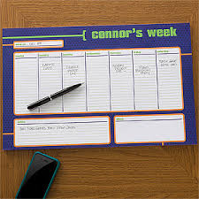 Desk Agenda Personalized Desk Pad Calendars For Him 11x17 Kids Gifts