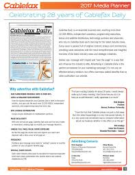 cover letter for media kit cablefax advertise cablefax
