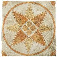 merola tile costa arena decor starflower 7 3 4 in x 7 3 4 in
