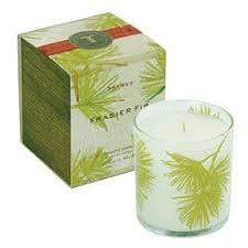 thymes candles thymes frasier fir candle in the test lab apartment therapy