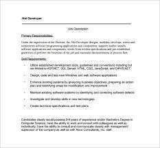 web developer job description template u2013 9 free word pdf format