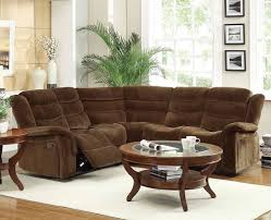 Curved Sectional Sofa With Recliner Furniture Winsome Reclining Sectional Sofas For Small Spaces