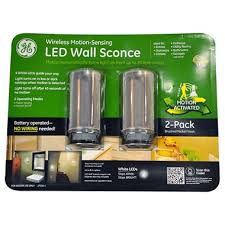 Battery Operated Wall Sconces Lighting Ge Led Motion Sensing Wall Sconce Sam U0027s Club