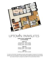 executive tower b floor plan 1 bedroom megaworldluxuryresidences