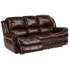 power recliner sofa leather flexsteel latitudes capitol power reclining sofa with