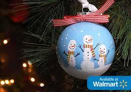 diy fingerprint snowman ornament project plaid