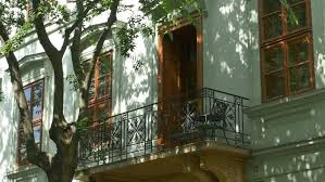 beautiful balcony beautiful classical architecture balcony near fresh air trees in