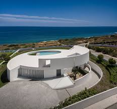 contemporary elliptical house with organic architectural design