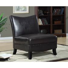 Dark Brown Leather Chairs Unique Brown Leather Accent Chair For Home Design Ideas With Brown