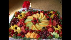 easy fruit platter decoration ideas youtube