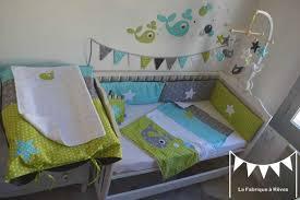 chambre et turquoise décoration chambre enfant bébé baleine anis turquoise gris blanc