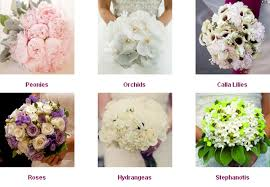 wedding flowers names flowers types for weddings kantora info
