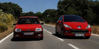 peugeot 205 gti 207 gt 1 6 thp car and driver