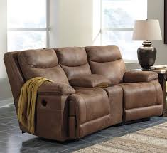 Couch Angled View Signature Design By Ashley Valto Power Reclining Sofa With Angled