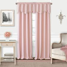 Soft Pink Curtains Elrene Adaline Soft Pink Polyester Single Blackout Window Curtain