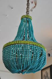 Beaded Turquoise Chandelier Beaded Empire Style Chandelier Mecox Gardens