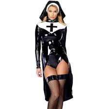 Nun Halloween Makeup by Seductress Nun Black Leather Women Halloween Costume Daisy Dress