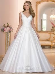 wedding dresses with straps straps a line v neck and v back wedding dresses lidress
