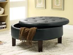dark brown storage ottoman coaster 501010 rich dark brown leather like vinyl button tufted top