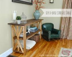 Diy Console Table Diy Rustic X Base Console Table The Chronicles Of Home
