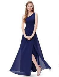 one shoulder high split formal evening party dresses