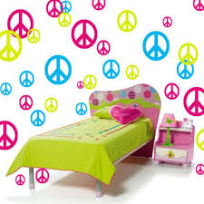 peace room ideas peace sign vinyl wall decals girls room decor 51 piece set 3
