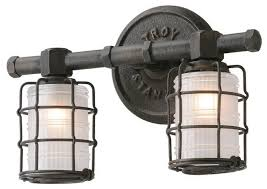 mercantile 2 light bathroom vanity light vintage bronze