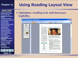 microsoft word publishing layout view chapter 11 quick links slide 1 performance objectives desktop