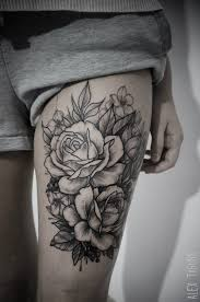 rose tattoo on thigh danielhuscroft com