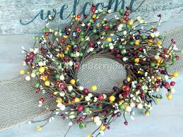 12 fall mixed berry wreath colorful fall candle wreath